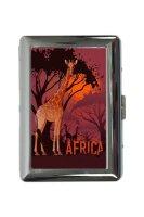 cigarette case tin Giraffe Zoo Africa savanna Print