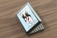 cigarette case tin rative Vet Practice french bulldog Print