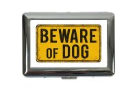 cigarette case tin rative Vet Practice Beware dog Print