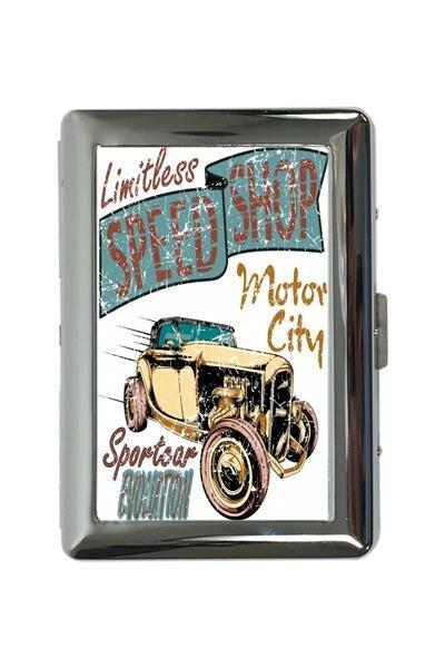 cigarette case tin Holiday Travel Agency Motor City Print