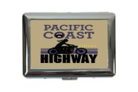 cigarette case tin Holiday Travel Agency Pacific Coast Print