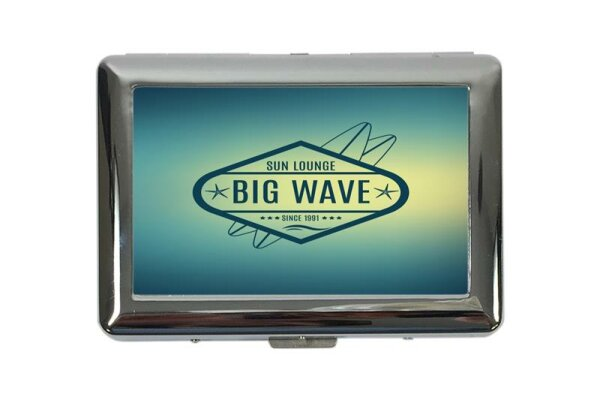 cigarette case tin Holiday Travel Agency Big Wave Print