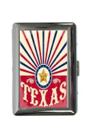 cigarette case tin Holiday Travel Agency Texas star Print