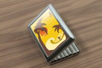 cigarette case tin Holiday Travel Agency Tropical Island...