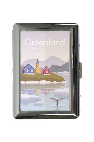 cigarette case tin Holiday Travel Agency Greenland Print