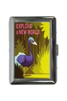 cigarette case tin Holiday Travel Agency New world Print