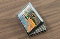 cigarette case tin Tractor Tugs Dual tyres Print