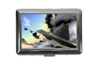 cigarette case tin Military Fighter aircraft Print
