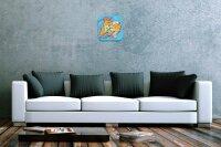 Wall Clock Fun Kitchen Decoration Scoop motor Acryl...