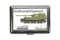 cigarette case tin Retro Tanks Ferdinand Print