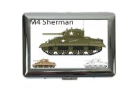 cigarette case tin Retro Sherman tank Print