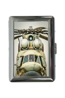 cigarette case tin Military Helicopter Print