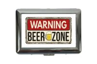 cigarette case tin Warning Labels Prohibition Beer zone...