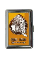 cigarette case tin Retro Western Tribal Leader Print