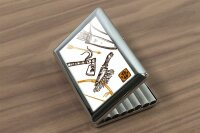 cigarette case tin Nostalgic Western Style Hatchet Print