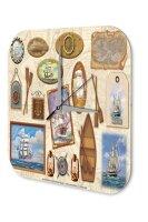 Maritime Decoration Wall Clock Ships rudder sea Decorative