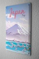 Tin Sign Holiday Travel Agency Japan Fuji