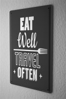 Tin Sign Kitchen Eat travel
