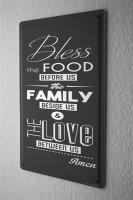 Tin Sign Kitchen Family food