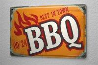 Tin Sign Kitchen Best BBQ