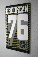 Blechschild Retro New York Brooklyn