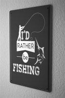 Tin Sign Nostalgic Motif Fishing
