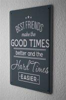 Tin Sign Retro Best Friends