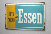 Tin Sign Wanderlust City Essen Germany