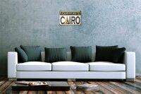 Tin Sign Wanderlust City Cairo Egypt
