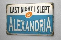 Tin Sign City Alexandria Egypt