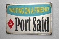 Tin Sign Travel Kitchen Port Said Egypt