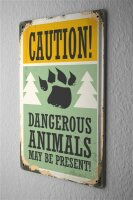 Tin Sign Ravtive Vet Practice Danger Animal