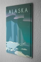 Tin Sign Holiday Travel Agency Alaska USA