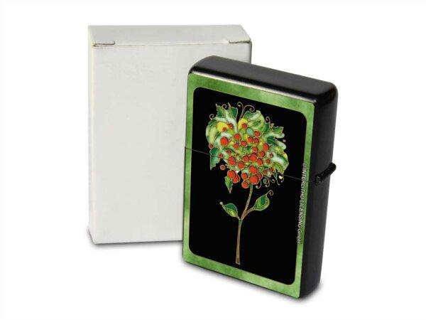 Petrol Lighter Printed fantasy flower with green frame