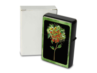 Petrol Lighter Printed fantasy flower with green frame