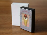 Pocket Windproof Lighter Brushed Oil Refillable ice cream...