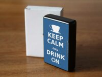 Pocket Windproof Lighter Brushed Oil Refillable Stay calm...