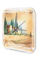 Wall Clock Holiday Travel Agency F. Heigl Tuscany sunset...