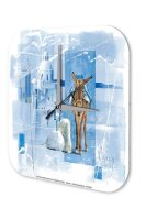 Wall Clock Holiday Travel Agency F. Heigl Greece donkey...