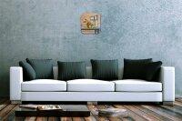 Wall Clock Holiday Travel Agency F. Heigl Painting garden...