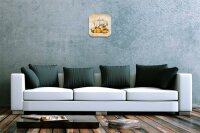 Wall Clock Holiday Travel Agency F. Heigl Painting pears...