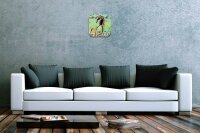 Wall Clock Nursery Decoration M.A. Allen Seahorse Acryl...