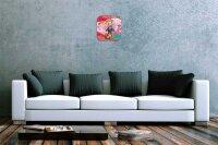 Funny Cartoon Wall Clock Vintage Decoration Happy Girl...