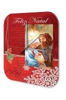 Wall Clock Retro Motif Merry Christmas Mary Joseph...
