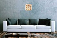 "Wall Clock Globetrotter France cheese bread printed acryl plexiglass 10x10"""