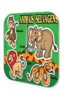 Wall Clock Nursery Decoration Wild Animals Lion Elephant...