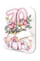 Wall Clock Fun Birthday 70 Birthday Card Vintage...