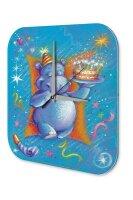 Wall Clock Birthday Congratulations Hippo Birthday Card...