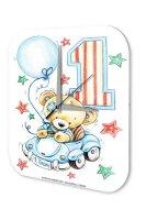 Wall Clock Birthday Congratulations First Birthday Card...