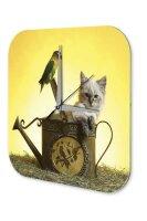 Decorative Wall Clock Vet Practice Cats puppy kitten...